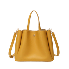 Simple Woman PU Leather Work Bag Fashion Ladies Handbags Commuter Large Capacity Young Female Texture Messenger Waterproof