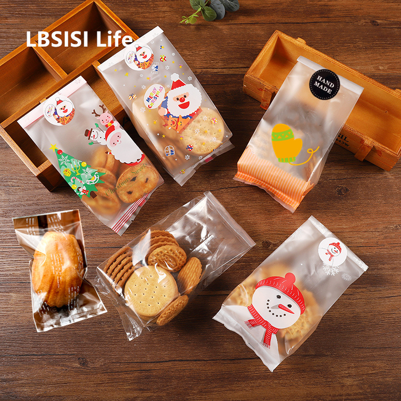 Package Gift Bags Wrapping Plastic Candy Cookies Cupcake Self Adhesive BL
