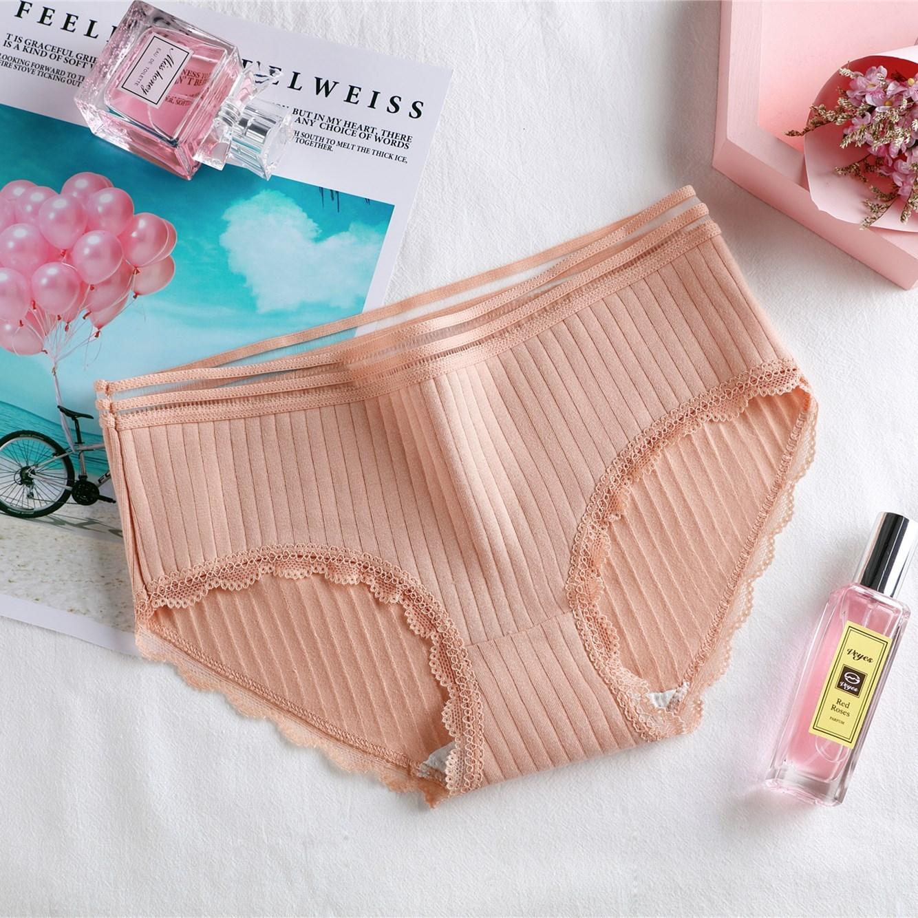 3PCS Women Panties Underwear Cartoon Dot Cartoon Pattern Print Low Waist Soft Cotton Briefs Sweet Stretch Panties Lingerie