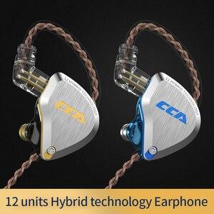 Image 5 - CCA C12 1DD + 5BA Hybrid w ucho słuchawki douszne słuchawki 6 napęd HIFI douszne Monitor sportowe do biegania Auriculares IEM douszne etapie 2Pin CCA C16