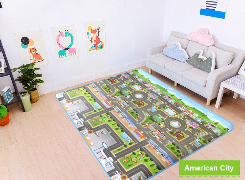 Hea4ff58c9f214c4f8ebfe1bbf88bfec17 Baby Play Mat Kids Developing Mat 200*180*0.5 cm Thick Gym Games Play Puzzles Baby Carpets Toys For Children's Rug Soft Floor