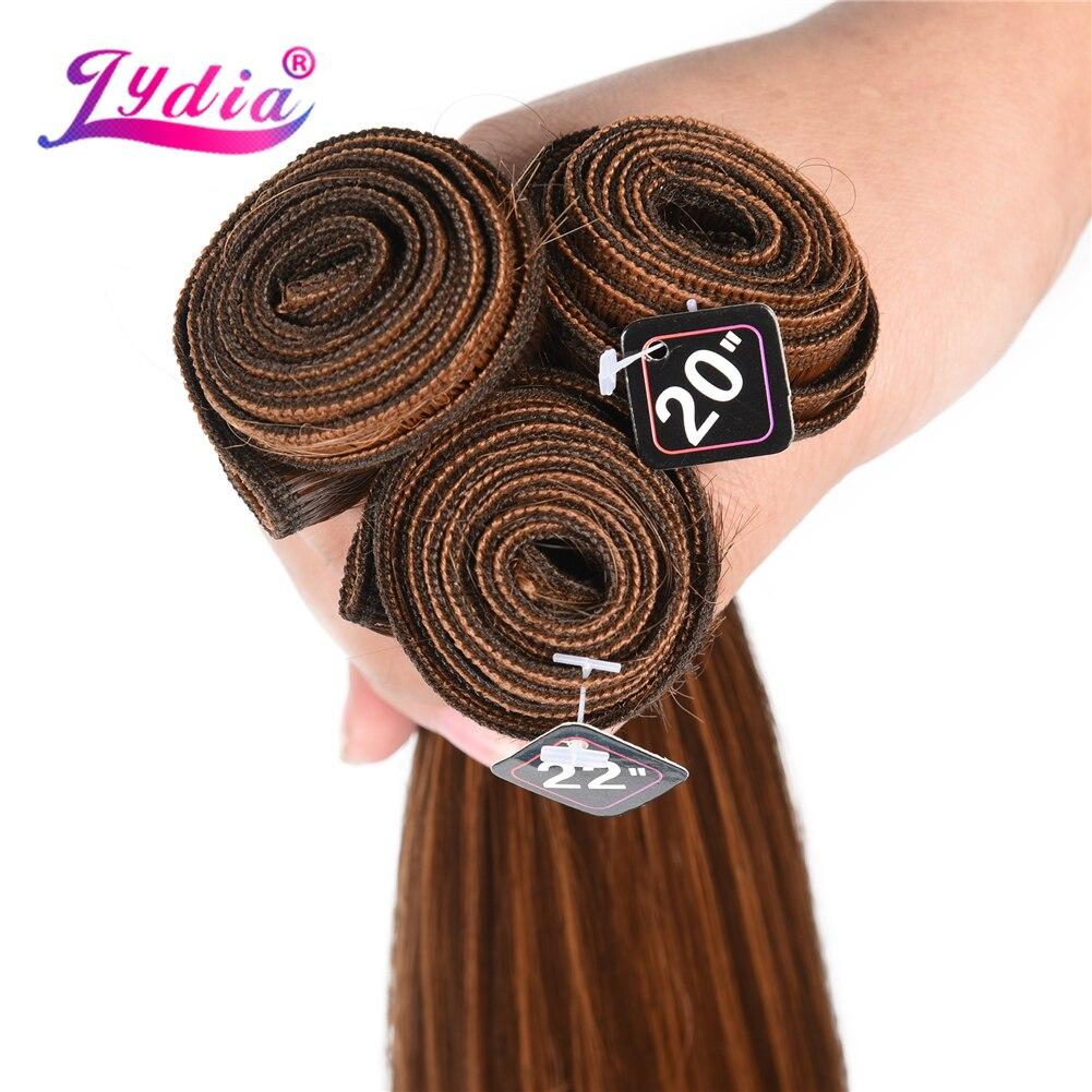 cabelo reto cor misturada pacotes de cabelo