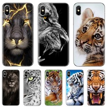 Phone Soft Case For Huawei P8 P9 P10 P20 P30 P Smart 2019 Honor Mate 9 10 20 8X 7A 7C Pro Lite animal avatar lion wolf Tiger Cub(China)