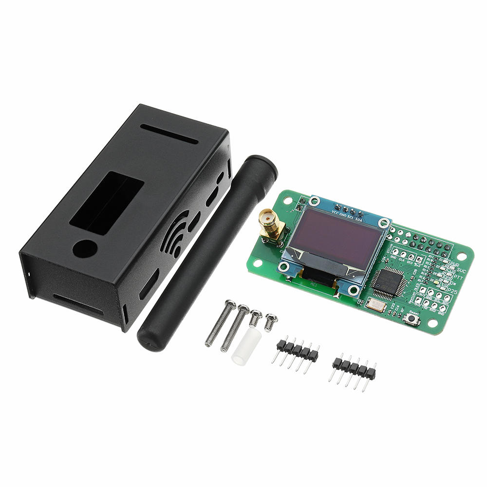 Antenna + Aluminum Case + OLED + MMDVM Hotspot Support P25 DMR YSF For Raspberry Pi