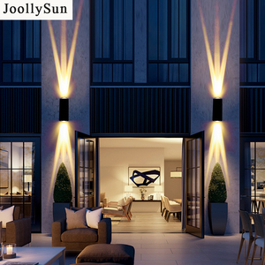 JoollySun Waterproof Wall Lamp LED Lighting Fixtures For Home Yard Corridor Decoration Wall Sconces Aluminum Exterior Lights