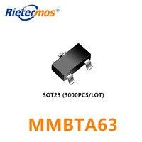 3000pcs MMBTA63 MMBTA63LT1G  SOT23  PNP 500MA 30V made in China|pnp|pnp sot23|  -