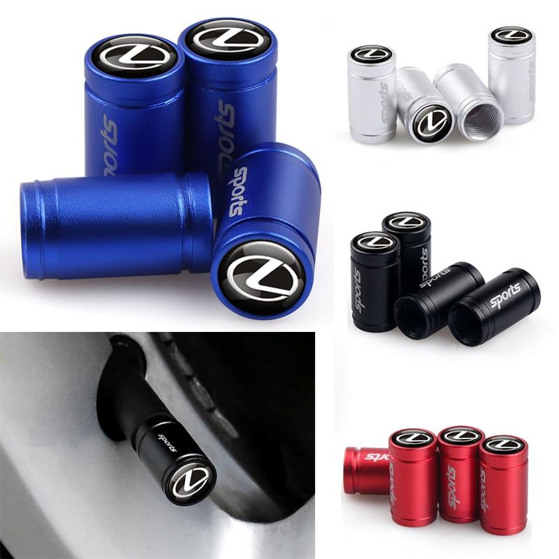 4Pcs/set Car Tyre Air Tire Valve Cap Dust Cover Sports Emblem For Lexus NX RX ES200 ES260 ES300 Rx330 Rx300 Gs300 Is250 Is200