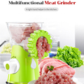 Moedor manual de carne multifuncional, máquina para enema de carne, enchimento de linguiça, material de cozinha