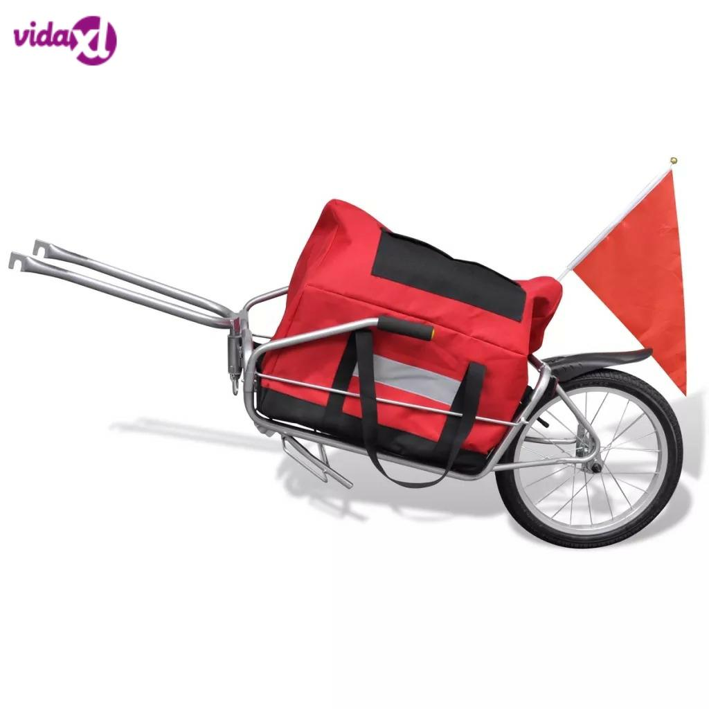 VidaXL VéLo Mono Wheel Trailer With Bag Stable And Durable Multifunction Bike Trailer Or Stroller With Handles 2 In 1 Trailer