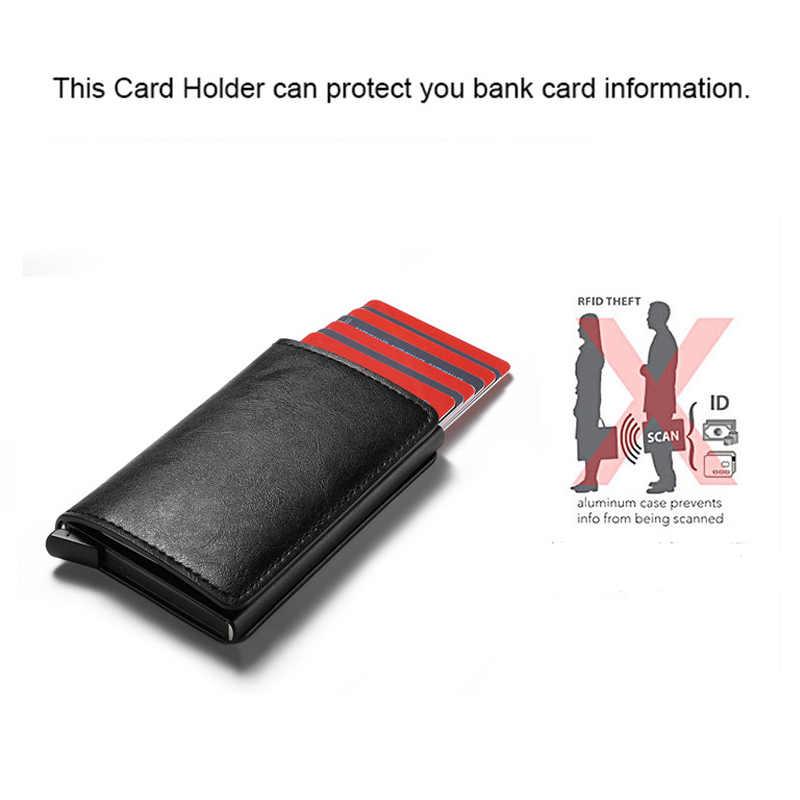 Zovyvol 2020 Veiligheid Smart Portemonnee Anti-Diefstal Mannen En Vrouwen Kaart Portemonnee Metalen Aluminium Solid Slim Kleine Korte Portemonnee cartera Mujer