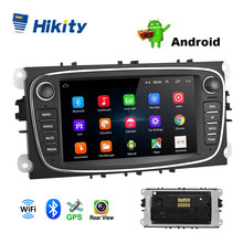 "Hikity 2din Mobil Radio 7 ""Cermin Link Pemain Android GPS WIFI Bluetooth CANBUS untuk Ford Fokus Mondeo C-MAX S-MAX galaxy II Kuga(China)"