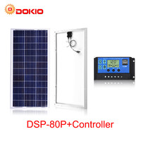 80W solar panel Set China 18V Polysilicon solar cell charge 12V battery photovoltaic solar panels for home with 10A controller
