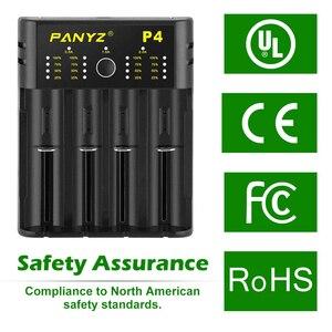 Image 4 - Зарядное устройство Panyz для литиевых аккумуляторов 18650, 26650, 21700, 10440, 14500, AA, AAA, никель, NiMH