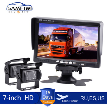 Car Monitor 7 Inch Color LCD Screen Rear View Camera For Car Rearview Monitors Auto Parking Backup Reverse Headrest Monitor
