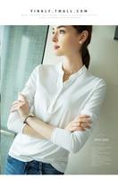 2019 autumn winters v neck render into new long sleeve T shirt female jacket unlined upper garment