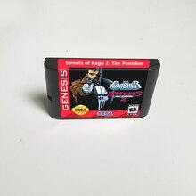 Punisher Ở Đường Phố Của Rage 2   16 Bit MD Thẻ Trò Chơi Cho Máy Sega Megadrive Sáng Thế Ký Video Máy Chơi Game Hộp Mực