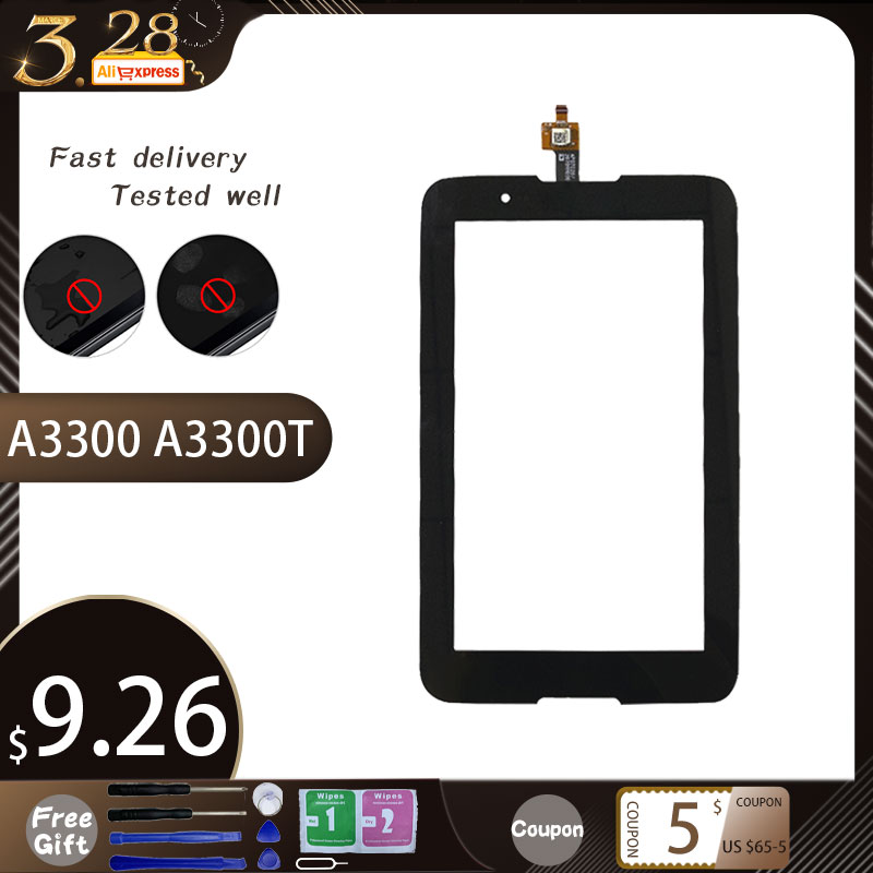 Free Shipping 7'' Inch Touch Screen,100% New For Lenovo A3300 A3300T A3300-HV Touch Screen  Panel For A3300 A7-30