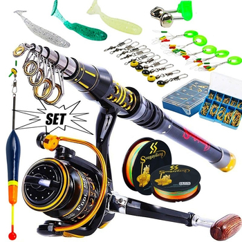 Beginner Fishing Set Full Tackle Kit