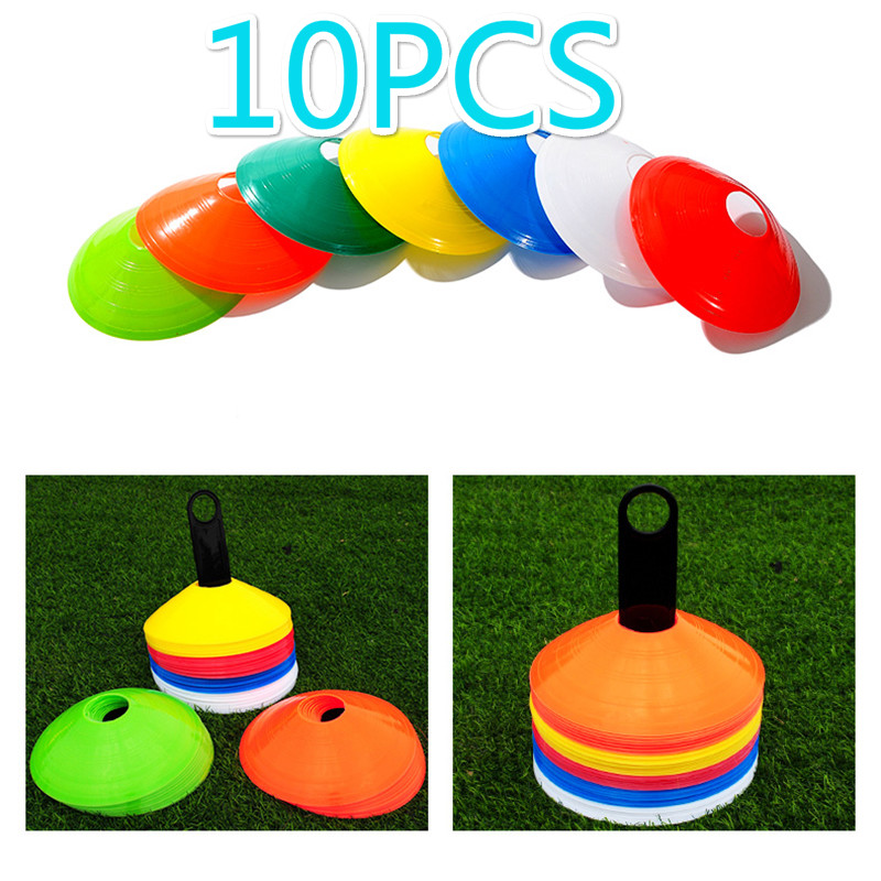 10Pcs Multi-color Sign Disc Cone Football Field Obstacle Flying Saucer Plate Training Equipment Anti-extrusion Anti-cracking