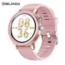 "MELANDA 2021 New Smart Watch Women Men Sport 1.3"" Heart Rate Blood Pressure Monitor Fitness Tracker Smartwatch For iOS Android"