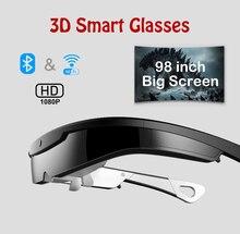 W2 – lunettes vidéo intelligentes 3D, Android, 8 millions de Pixels, WIFI, casque tout en un, cinéma Mobile, synchronisation sans fil du téléphone portable