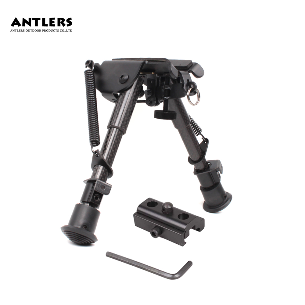 Tactical Support Bipod Carbon Fiber Material 6~9 Inch Tripod Joint Camera Converter 20mm Weaver Picatinny  Accessories