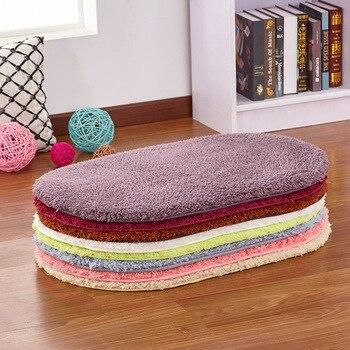 Soft Water Absorption Bath Mats Toilet Floor Absorbent Thick Carpets Non-slip Bathroom Mats Memory Foam Bath Rug Ellipse Mats