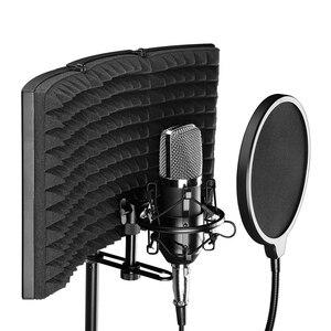 Image 3 - קצף פנל קול בולם סטודיו הקלטת מתקפל מסנן מיקרופון הפחתת רעש מקצועי שמשות בידוד מגן