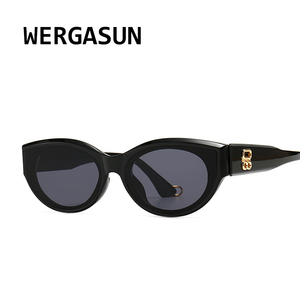 WERGASUN New Fashion Brand Designer Cat Eye Women Sunglasses Female Gradient Points Sun Glasses Big Oculos feminino de sol