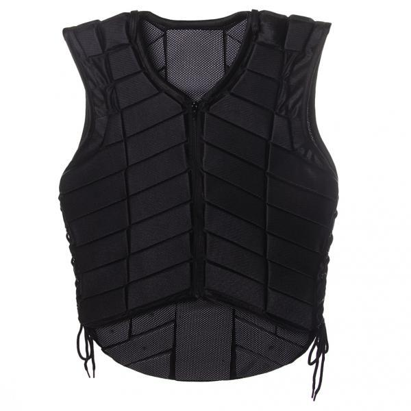 Safety Equestrian Horse Riding Vest Protective Body Protector Black Adult XS
