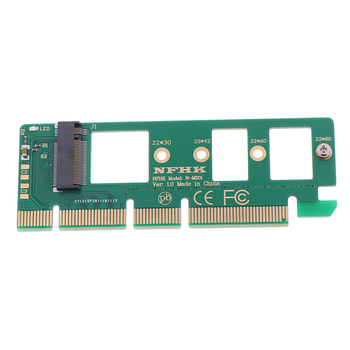 NVMe M.2 NGFF SSD To PCI-E PCI Express 3.0 16x X4 Adapter Riser Card Converter image