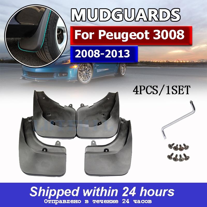 Литые Брызговики OE для Peugeot 3008 2008-2013, брызговики, брызговики, щитки, брызговики, Стайлинг автомобиля 2009 2010 2011 2012
