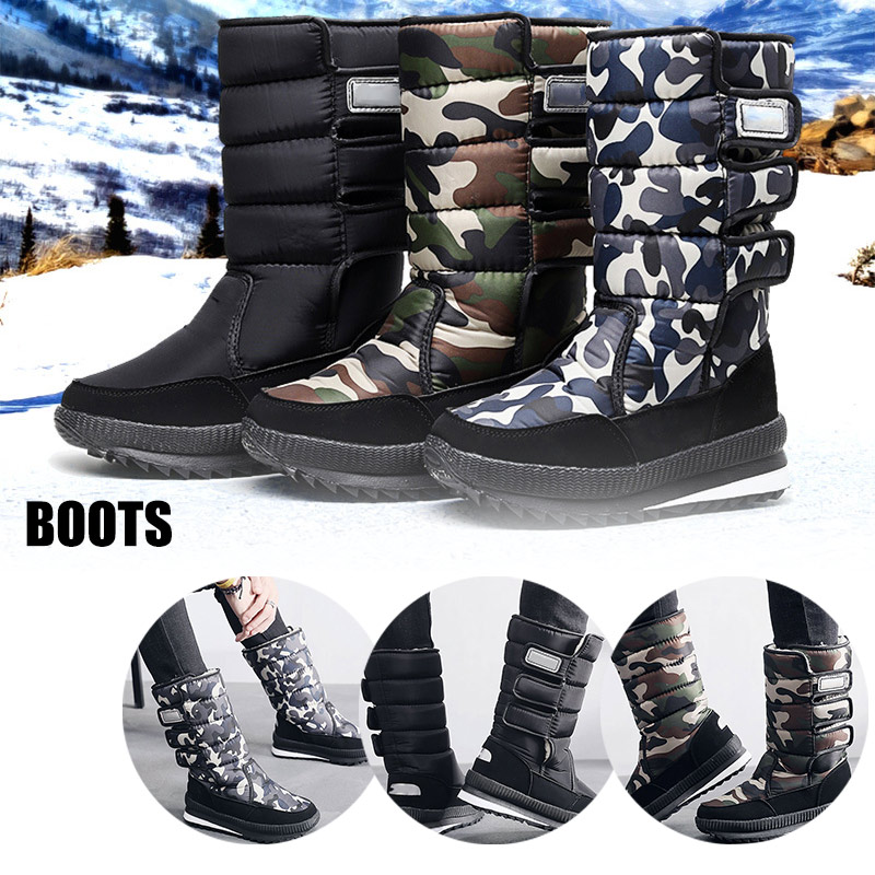 Men Shoes Snow Sneakers Boots Under Knee Shoes Outdoor Anti-Slip Waterproof Booties Winter Warming zapatos de hombre K-BEST image