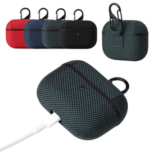 Textil Tuch Haut Kopfhörer Fall für AirPods Pro 3 Wireless Bluetooth Kopfhörer Abdeckung Tragbare Anti Fingerprint Retro Hülse Tasche