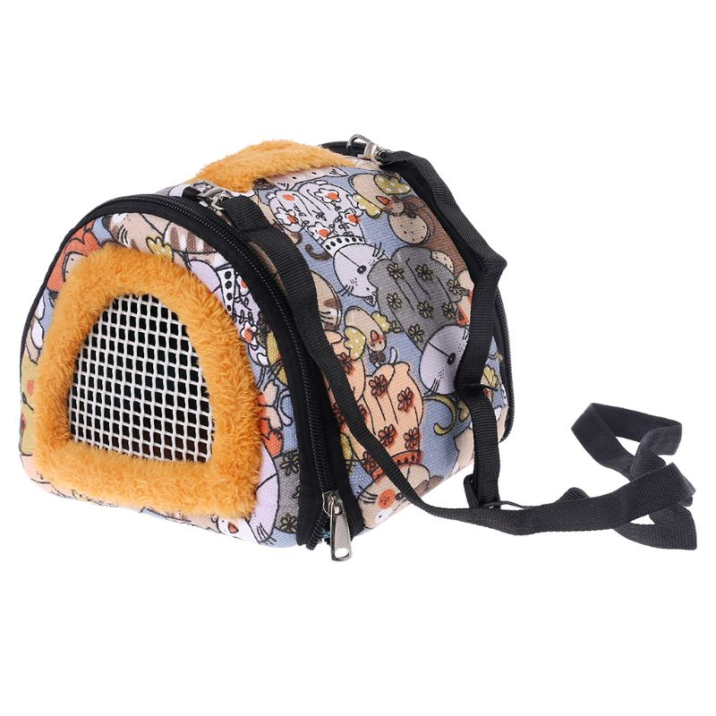 Portable Hamster Carrier Small Pet Guinea Pig Travel Pounch Bag Outdoor