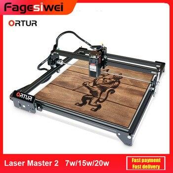 ORTUR Laser Master 2 Laser Engraving Cutting Machine With 32-Bit Motherboard 7w 15w 20w Laser Printer DIY Cutter Carver Printer