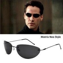 HBK – lunettes De soleil polarisées ultralégères sans monture en titane pour hommes, Style Matrix Neo, nouvelle collection 2020