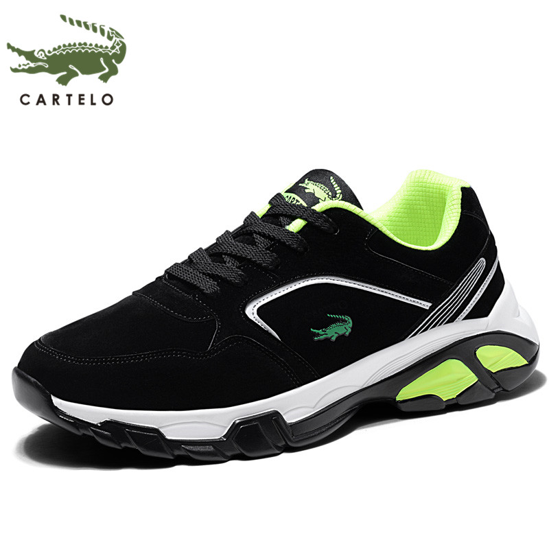 CARTELO men's shoes new tide shoes sports casual running shoes lace color shoes men