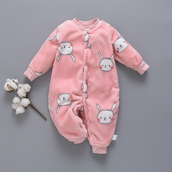 Melario Newborn Baby Girls Rompers Kids Clothes Cartoon Fleece Boys Jumpsuits Toddler Rompers Children Overall Winter Pajamas newborn winter baby rompers girls windproof rompers children warm outdoor rompers kids jumpsuits