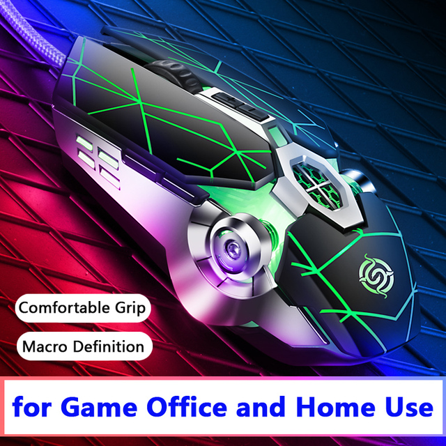 Pro Gamer Gaming Mouse 8D 3200DPI Adjustable Wired Optical LED Computer Mice USB Cable Silent Mouse for laptop PC 3