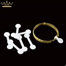 50 штук белые пустые этикетки для цены квадратные Круглые головки бумажные этикетки наклейка для кольца ожерелье витрина для ювелирных украшений браслетов розничный магазин