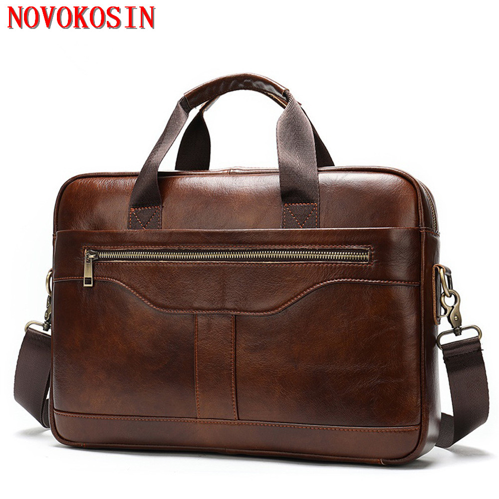 M3 2020 Computer 14 Inch Laptop Handbag Bag Men's Travel Bags Men Casual Briefcase Business Shoulder Bag Leather Messenger Bags