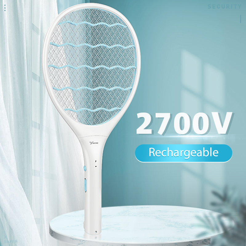 Electric Fly Swatter Mosquito Racket Electric Insect Racket Swatter Zapper Rechargeable Mug 3 Network Bug Zapper Killer Trap