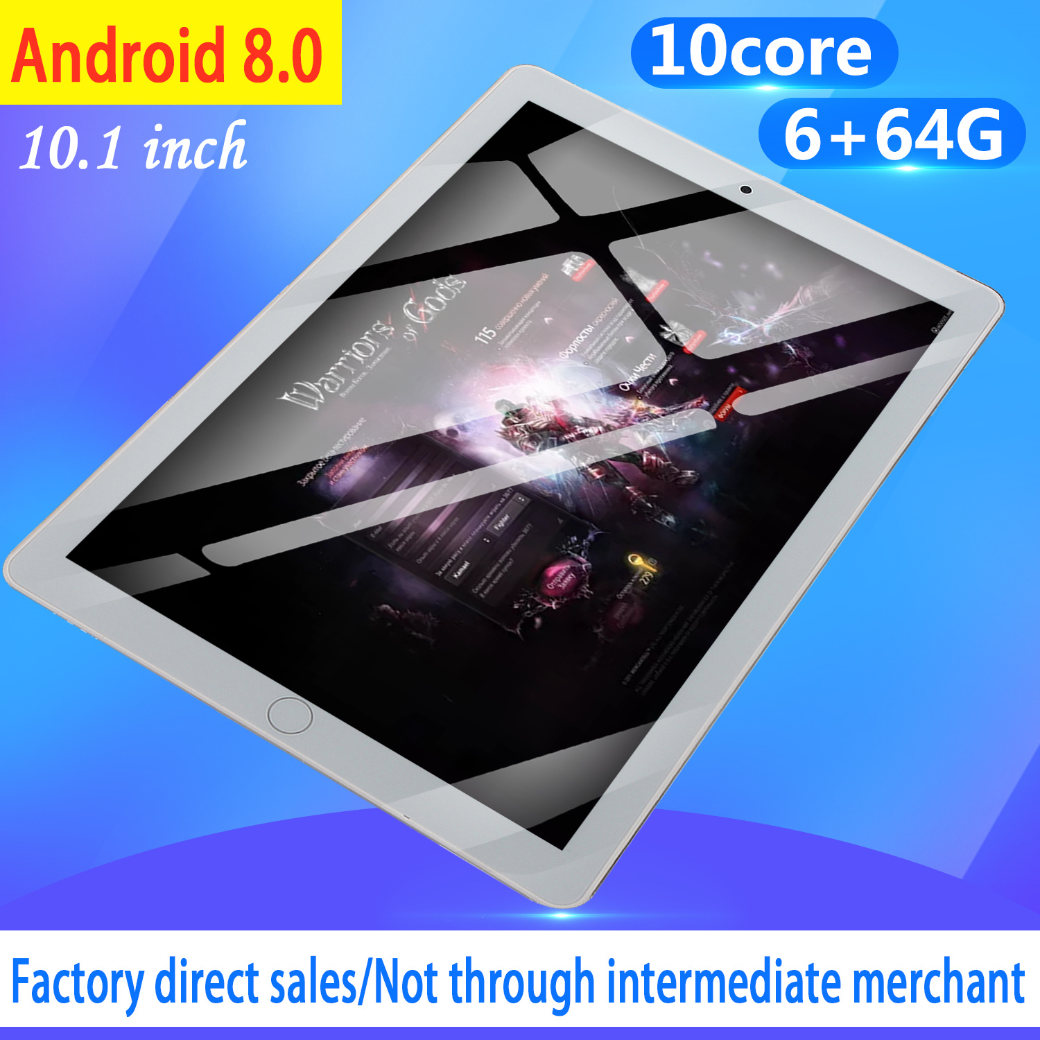 10 Inch Tablet Android 8.0 Tablet Pc 4GB/64GB Bluetooth WiFi Quad Core Tablet 4G Phone Tablet Android 8.0 Tab