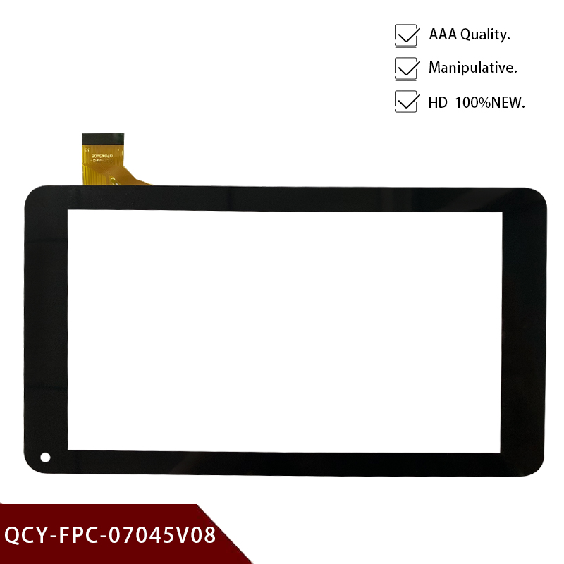 Original 7 Inch Replacement QCY-FPC-07045V08 Touch Screen Handwriting Screen Capacitive Screen