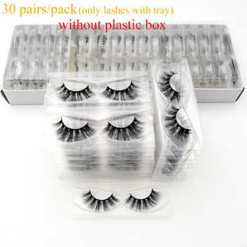 30/40pairs/pack Visofree Mink Eyelashes with Tray No Box Handmade Natural False Eyelashes Full Strip Lashes Reusable Long lashes - DISCOUNT ITEM  48% OFF All Category