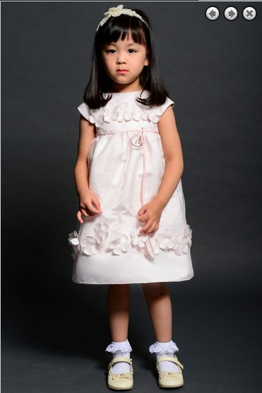 Free Shipping Flower Girl Dresses For Weddings 2016 Bridal Gowns First Communion Kids Christmas Pink Pageant Dresses For Girls