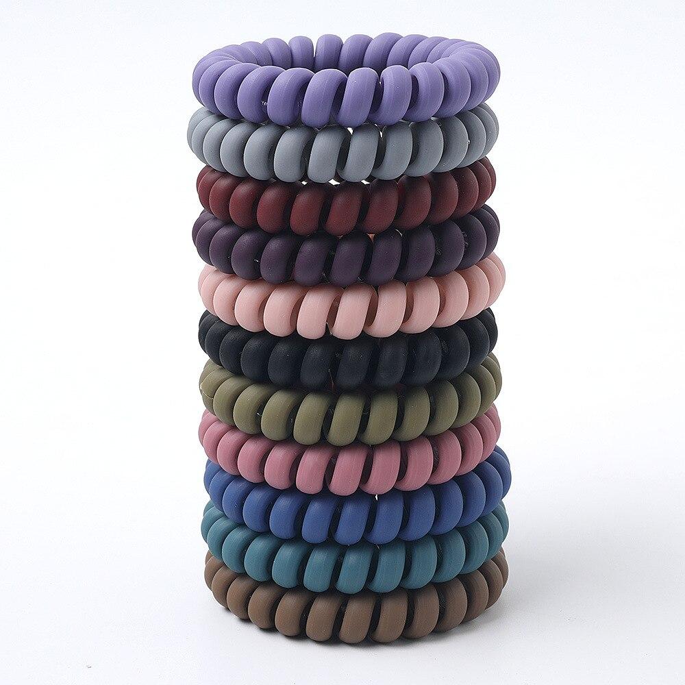 Женские матовые цветные Светящиеся в темноте тканевые резинки для телефонного провода эластичные цвета не-mark спиральные веревочки для вол...