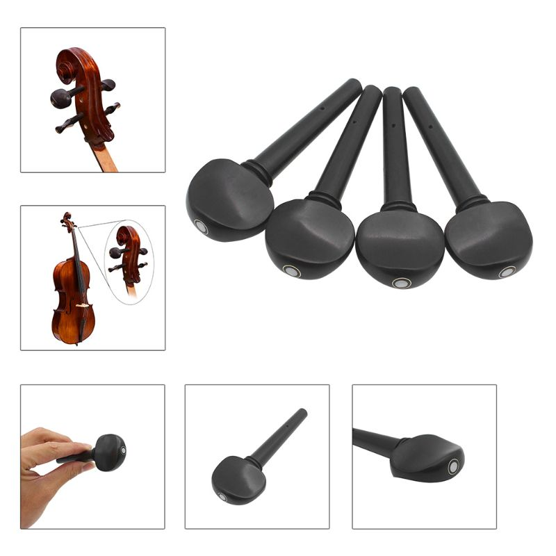 Wooden Ebony Pegs Shaft Handle Musical Instruments Wood Cello Accessories Parts