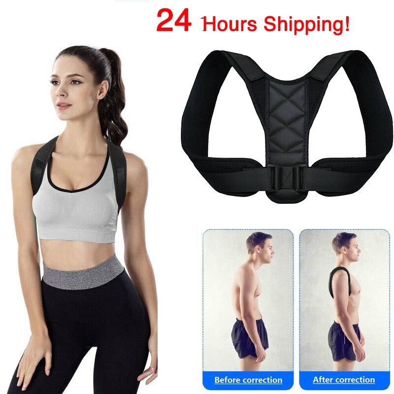 Medical Adjustable Clavicle Posture Corrector Men Woemen Upper Back Brace Shoulder Lumbar Support Belt Corset Posture Correction 1